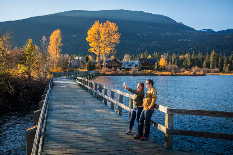 Capturing fall moments at Green Lake in Whistler. JUSTA JESKOVA PHOTO