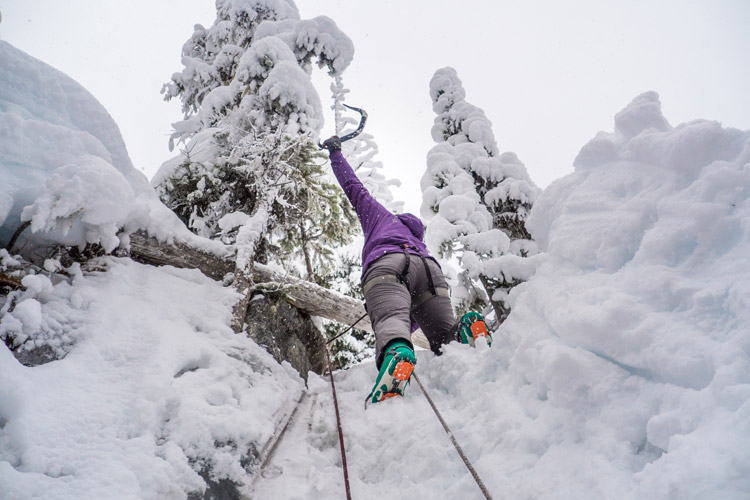 Learning Ice Climbing in Whistler