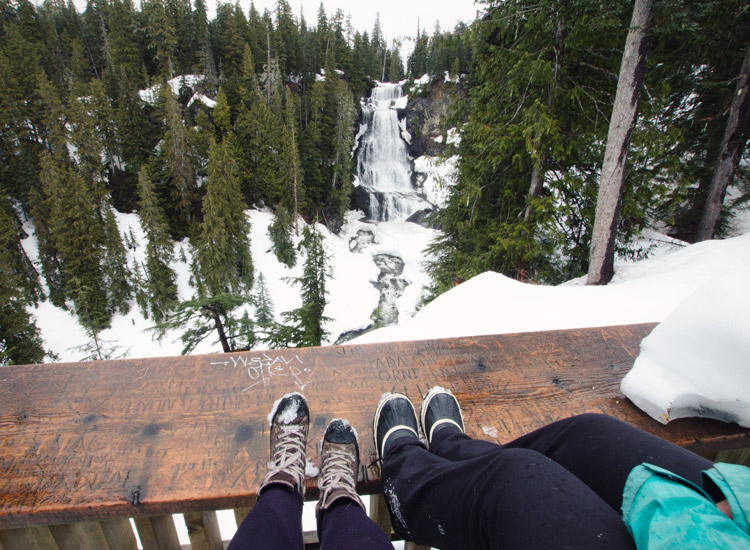 Alexander Falls Viewing Platform in Whistler