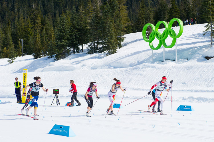 Cross country events at Whistler Olympic Park