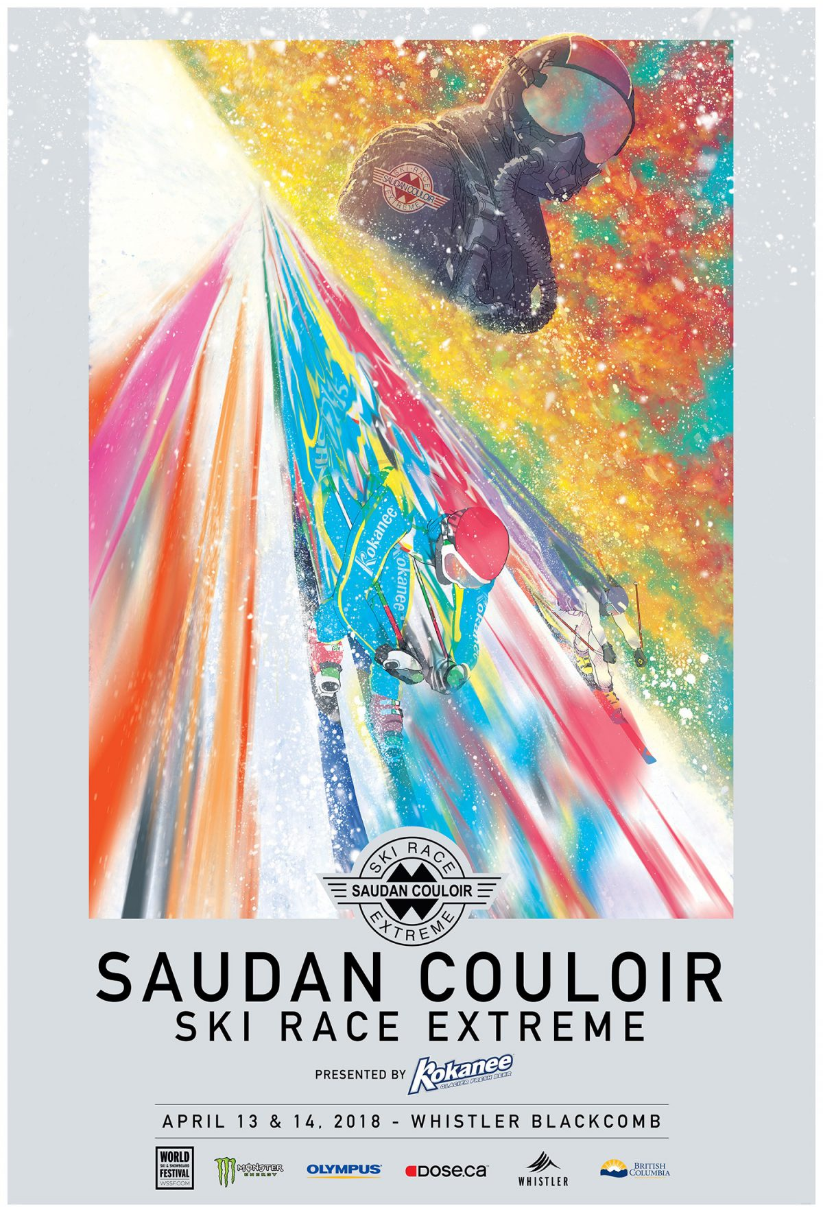 Poster for the Saudan Couloir Ski Race Extreme