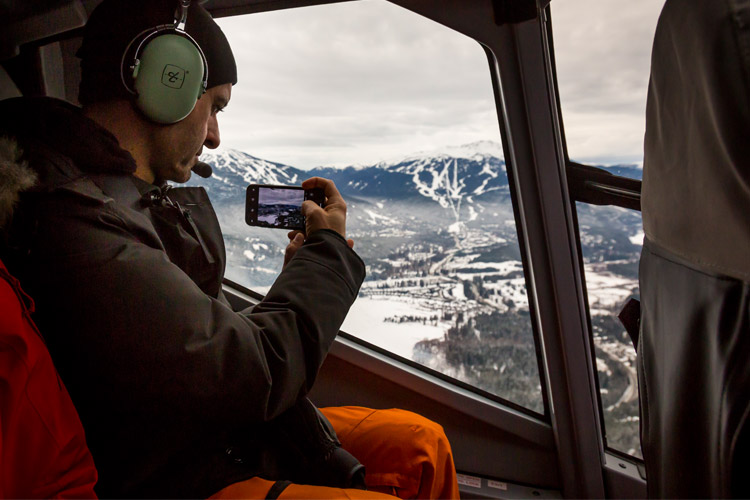 Ice Cave Tours depart from Whistler, affording a bird's eye view of the resort. PHOTO JUSTA JESKOVA