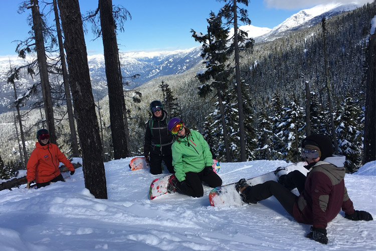 Womens' Snowboard camp in Whistler