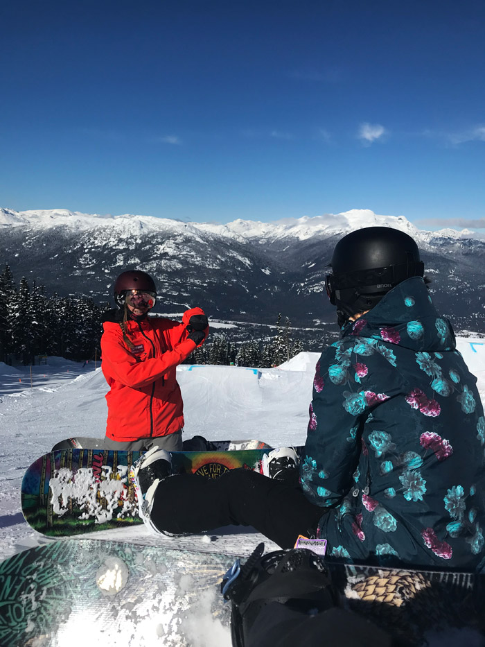 Snowboard Instructor on Whistler Mountain