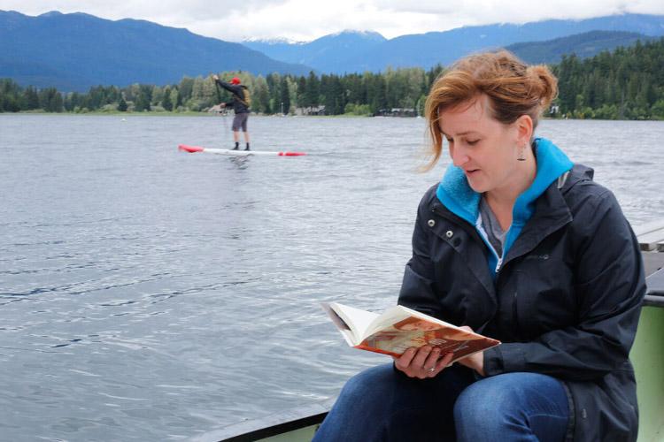 Reading in a Canoe, Alta Lake