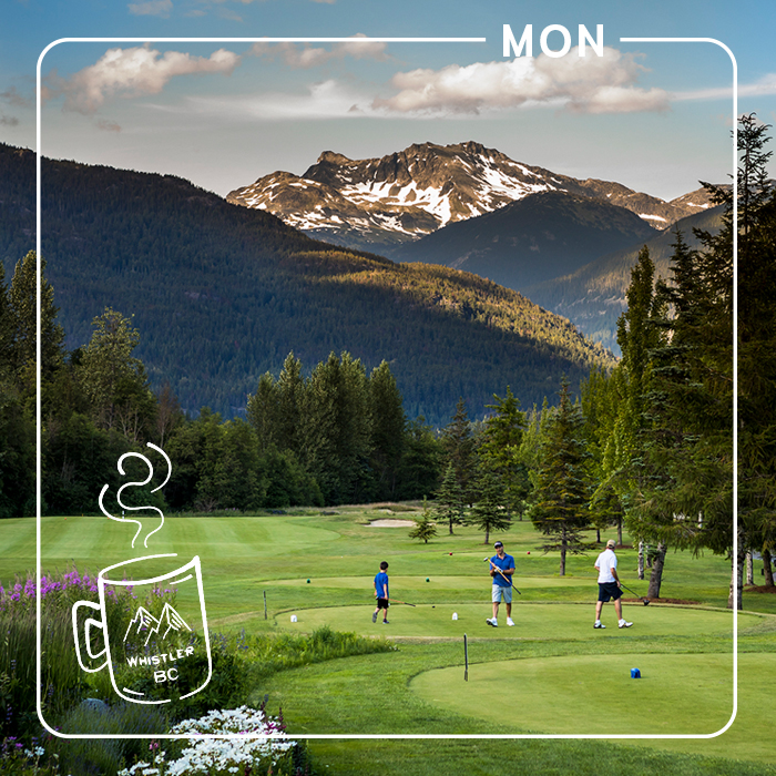 Whistler Golf Courses, Illustration by Nikkey Dawn