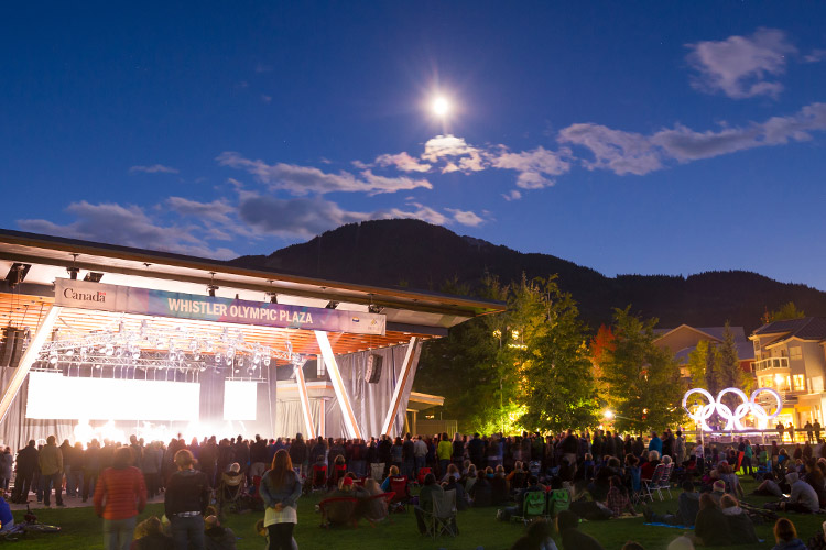 Whistler Summer Concerts in Olympic Plaza