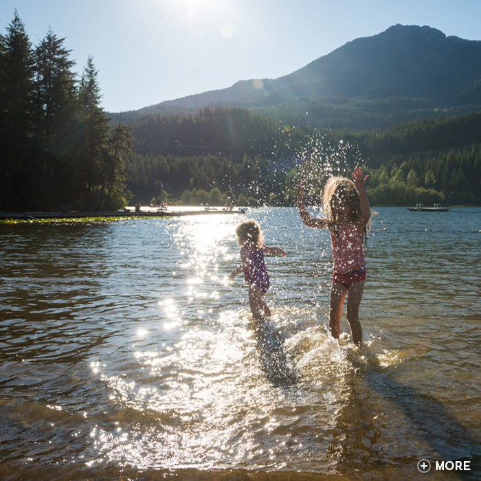 Whistler lakes, beaches and parks.