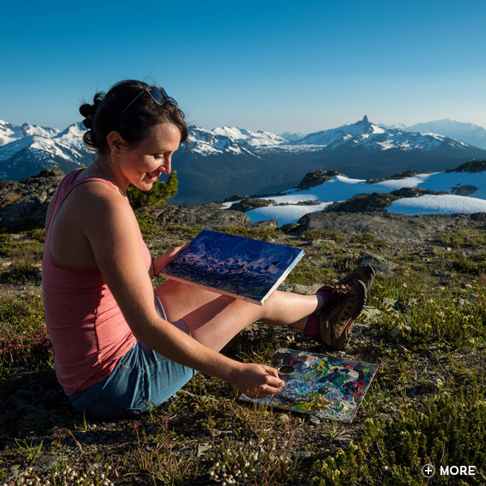 Painting in the alpine in Whistler.