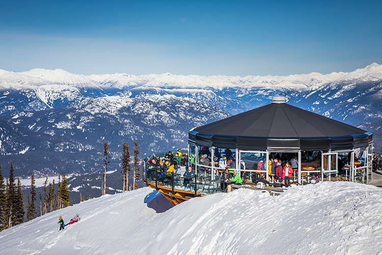 Umbrella Bar on Whistler Mountain