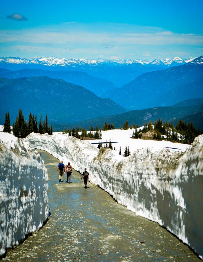 Whistler Mountain spring hiking