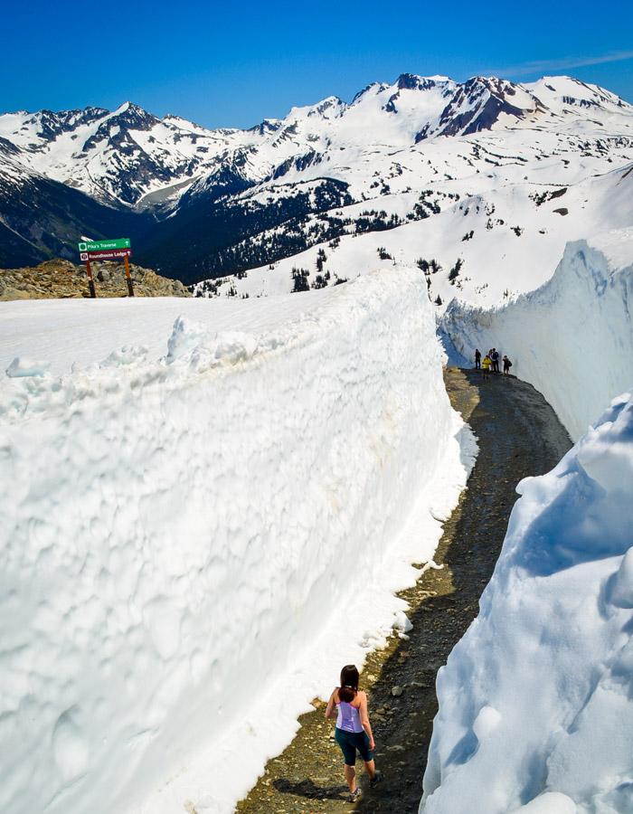 Snow Walls on Pika's Traverse Whistler