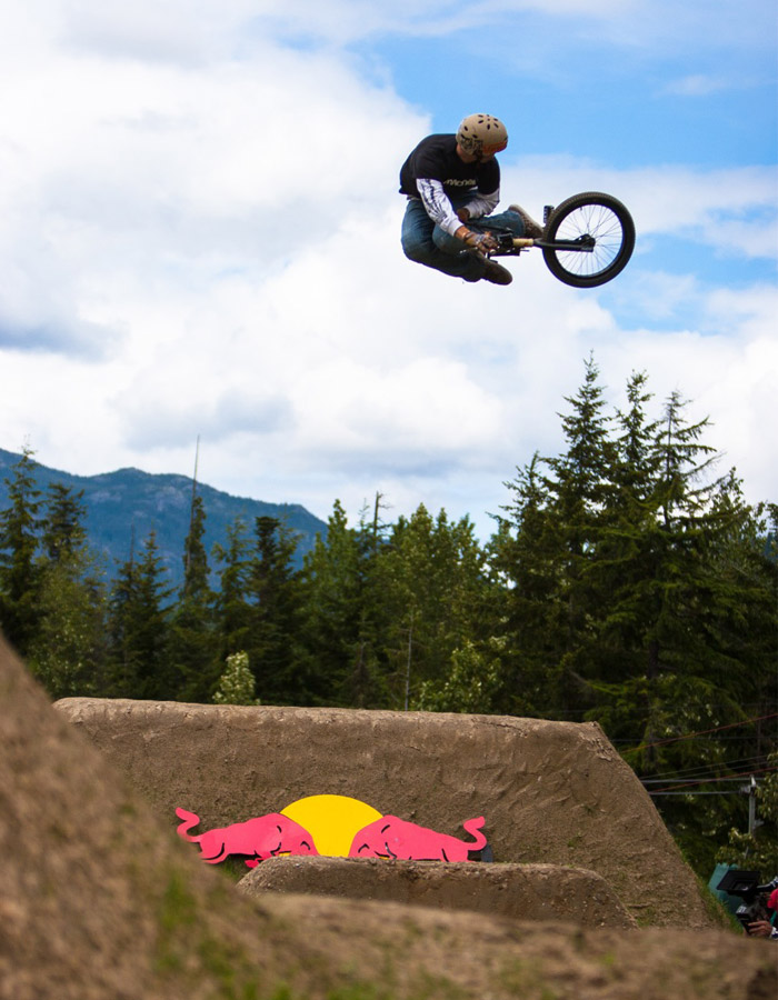 Athletes pushing the limit at Red Bull Elevation in Whistler. PHOTO BRIAN FINESTONE