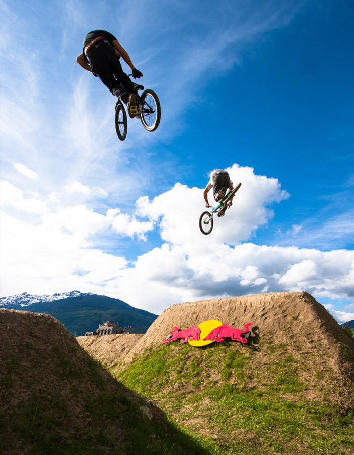 During practice for the Red Bull Elevation. PHOTO BRIAN FINESTONE