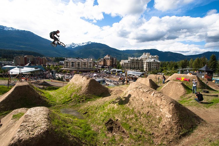 Rider on course for the Red Bull Elevation. PHOTO BRIAN FINESTONE