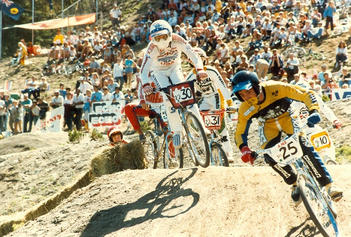 Track action in the 1985 BMX World Championships in Whistler. PHOTO COURTESY USA BMX