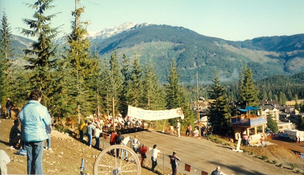 The start ramp at the 1985 BMX World Championships in Whistler.  PHOTO COURTESY USA BMX