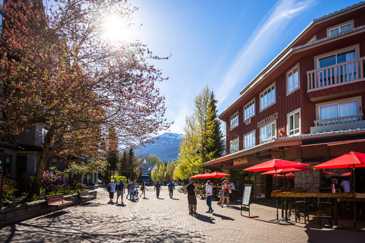 Whistler Village in Spring