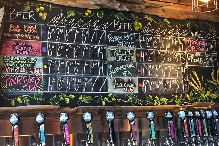 Beer Flight at Coast Mountain Brewing