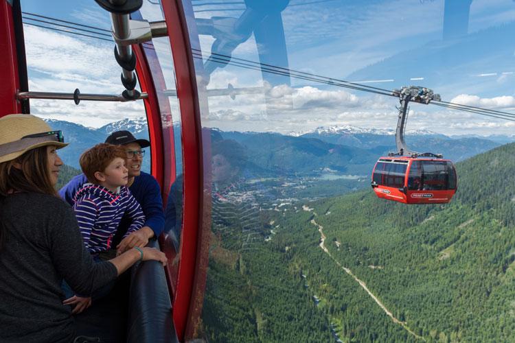 Sightseeing on Whistler Blackcomb's PEAK 2 PEAK Gondola