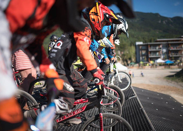 Whistler BMX Club racers ready at the track