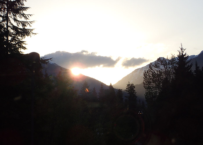 Beautiful sunset in Whistler Valley
