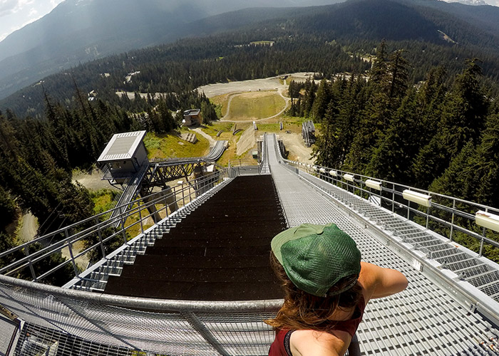 Top of the World at the ski jumps at Whistler Olympic Park