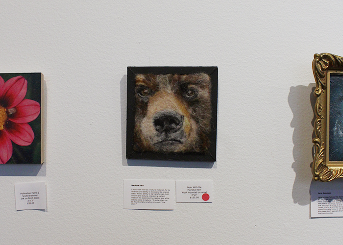Bear art at the Teeny Tiny Show