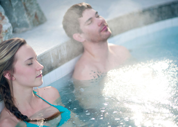 Couple at Scandinave Spa