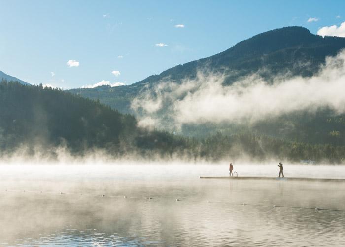 Alta Lake in the mist