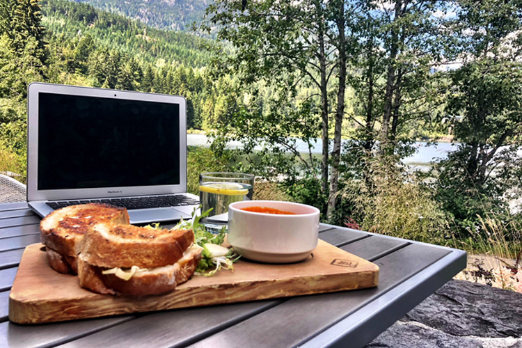 Remote working from Nita Lake Lodge