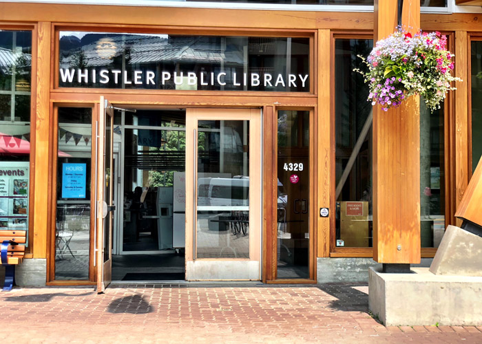Remote working at the Whistler Library
