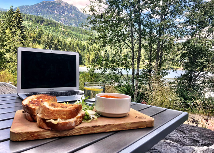 Working remotely from Nita Lake Lodge