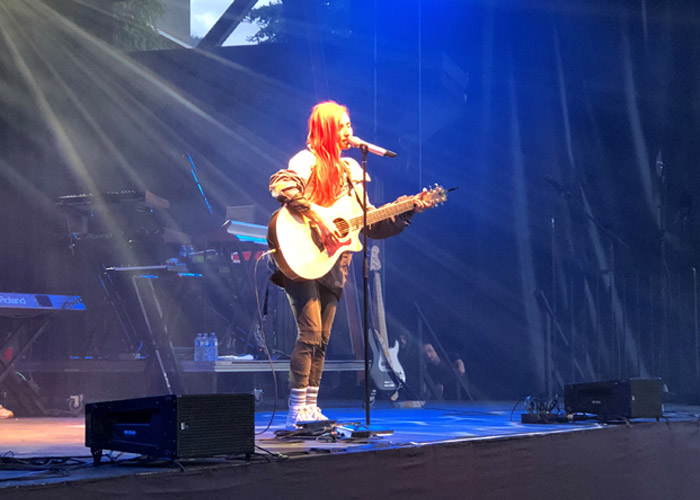 Getting acoustic with Lights on stage in Whistler.