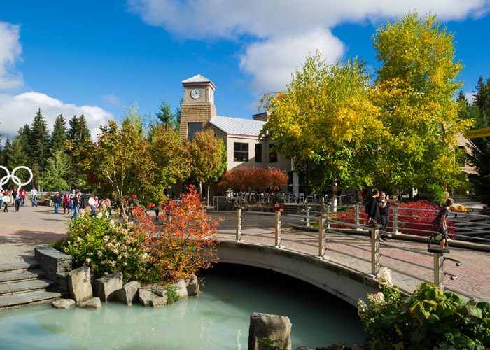 Whistler's Village North on a stunning fall day.