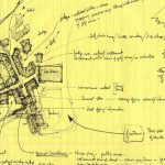 Eldon Beck's original sketches of the Whistler Village design.