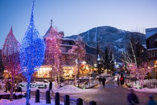 It's all about the sparkles and twinkles over the festive season in Whistler.