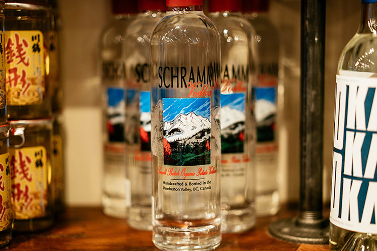 Schramm vodka from Pemberton.