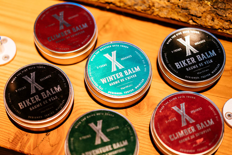 Six X-treme Organics balms