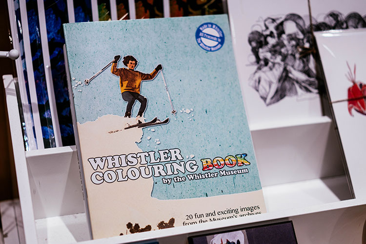 A colouring book for children full of Whistler images.