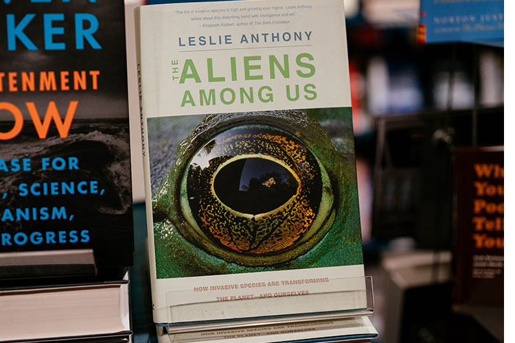 The cover of the Aliens Among Us book by local author Leslie Anthony
