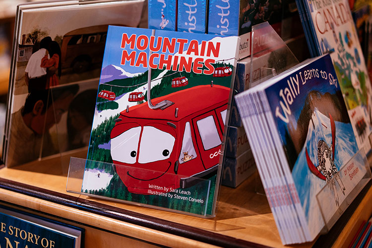 The cover of the Mountain Machines book by local author Sara Leach