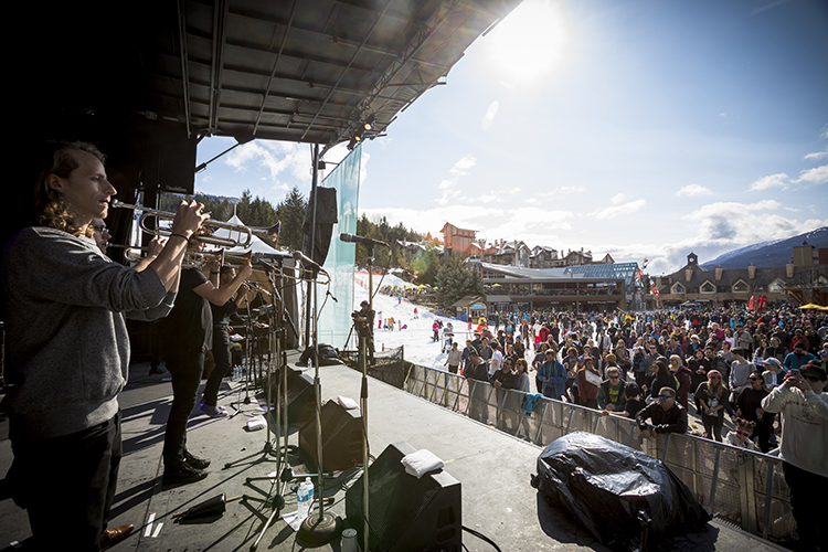 Free concert series in Whistler Village during WSSF