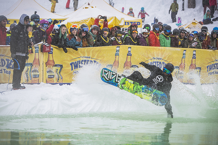 The Slush Cup during the World Ski & Snowboard Festival