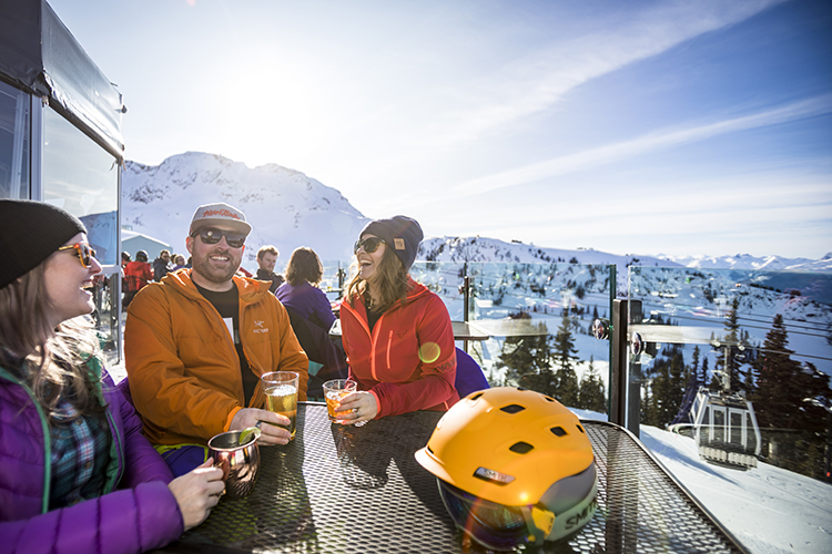 Spring skiing and on-mountain apres