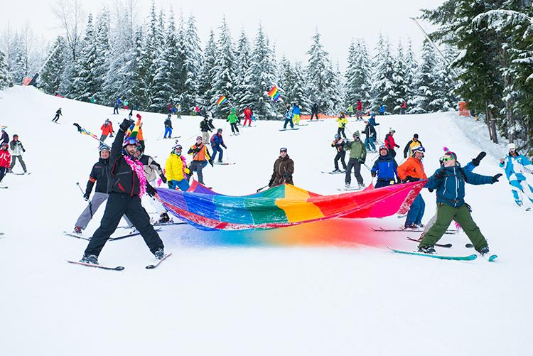 Whistler Pride & Ski Festival ski out parade