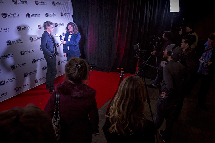 Red carpet action at the Whistler Film Festival