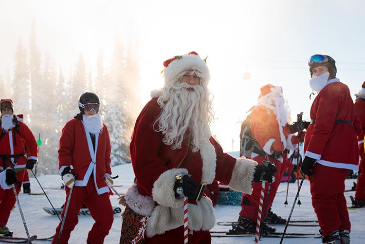 Santa ski day!