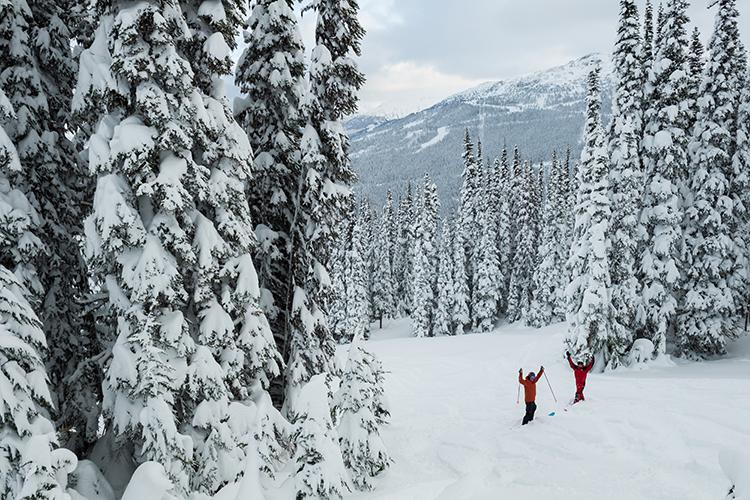 Opening day on Whistler Mountain