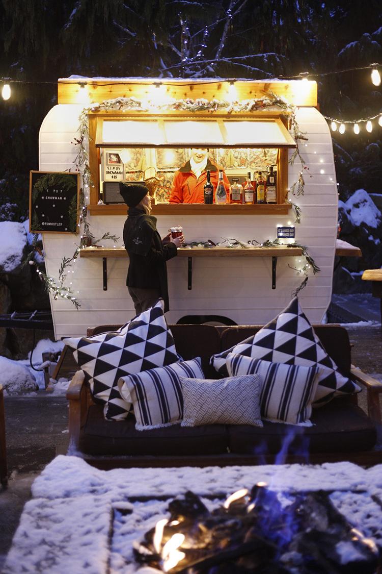 Vintage Camper Apres in Whistler